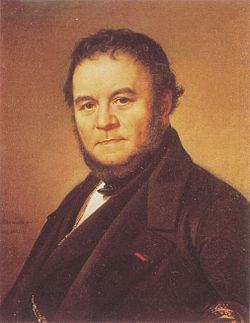 """Йохан Олаф Содемарк, """"Портрет Стендаля"""", 1840"""