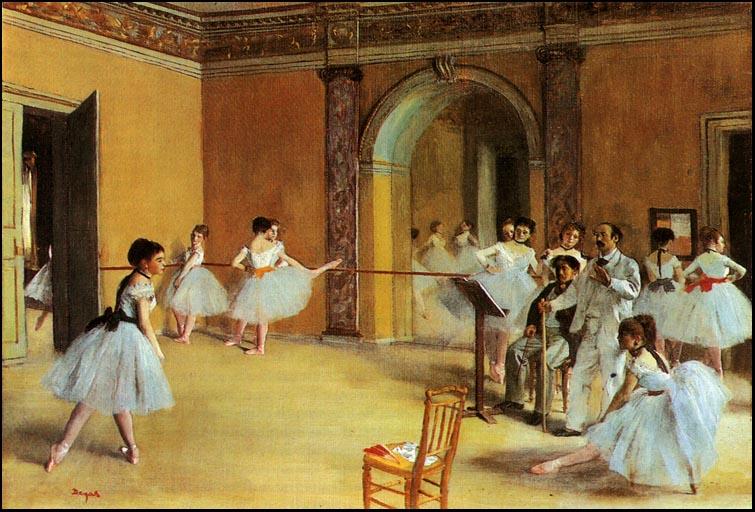 Картина французского художника Эдгара Дега Урок танца