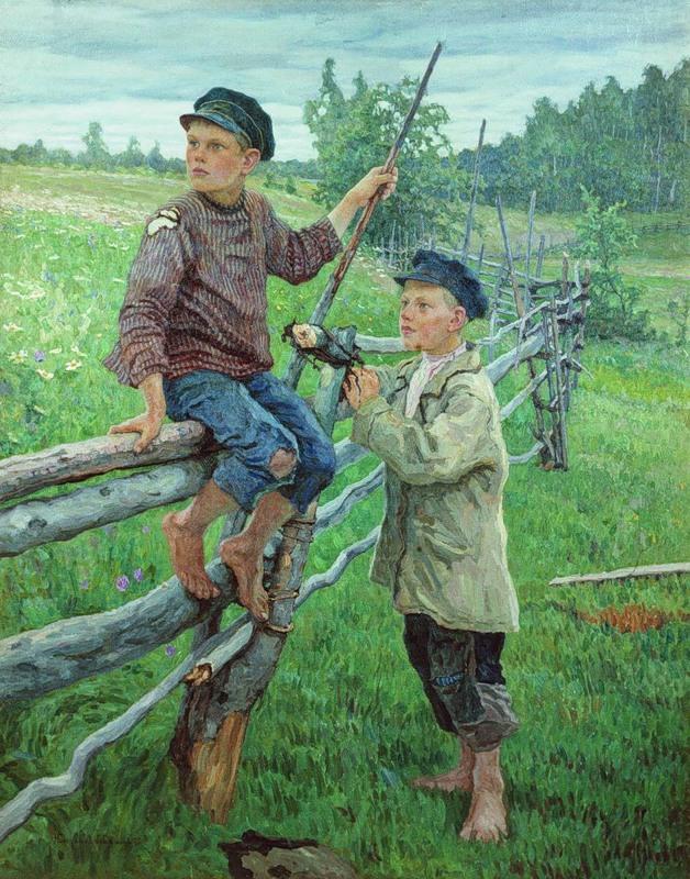 Н.П. Богданов-Бельский Деревенские мальчики