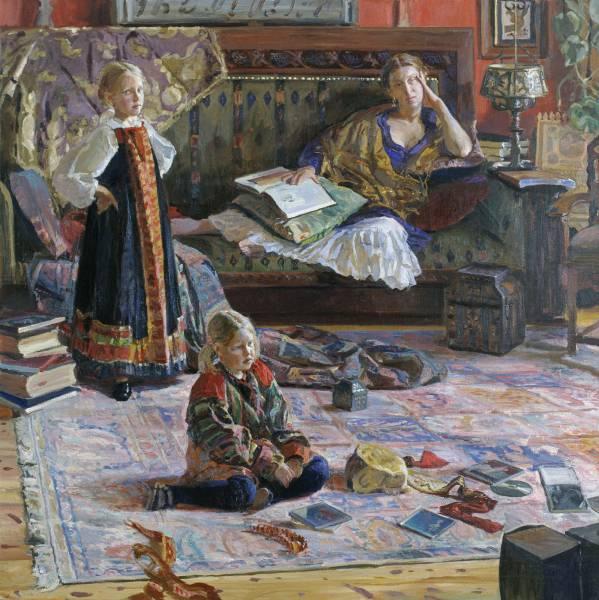 Илья Глазунов Семья художника