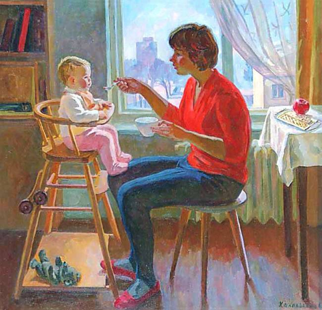 Эльза Хохловкина. Утро, 1969