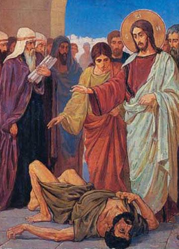 Василий Беляев Исцеление бесноватого