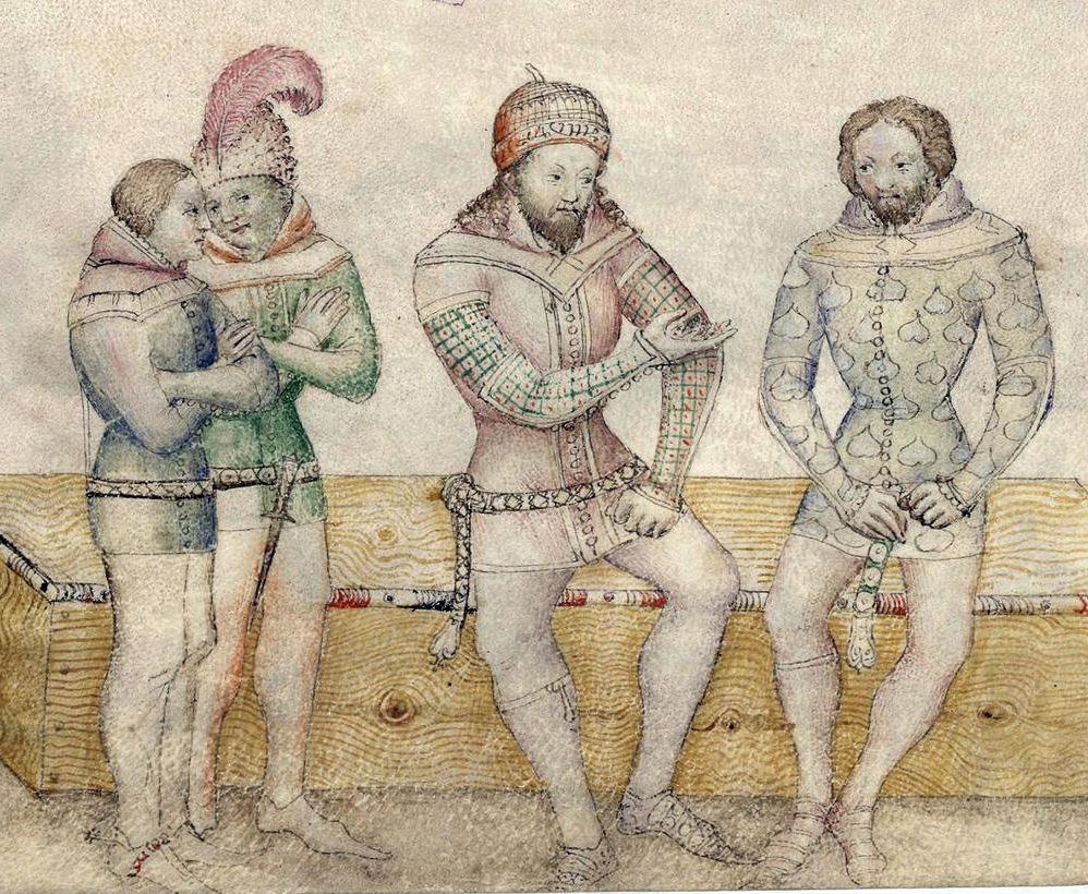 Миниатюра из манускрипта BNF Nouvelle acquisition française 5243 Guiron le Courtois, Италия, 1370-1380