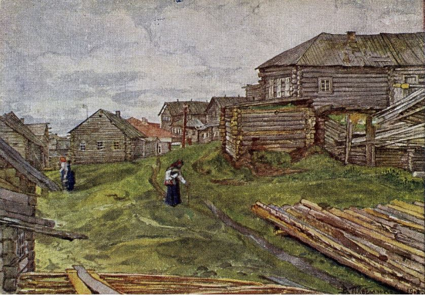 Владимир Плотников. Деревня на севере, 1908