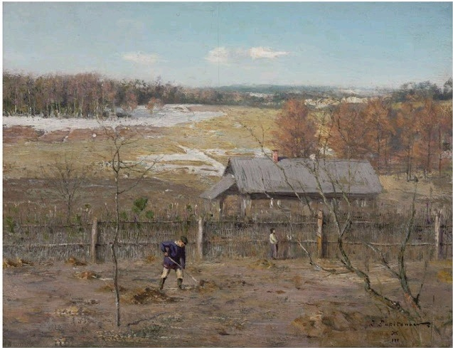 Картина русского художника Ивана Похитонова В саду