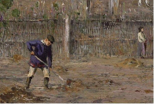 Иван Похитонов В саду. Фрагмент