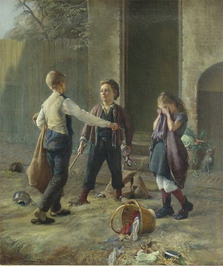 Хеннингсен (Христиан) Прам Предостерегающий мальчик