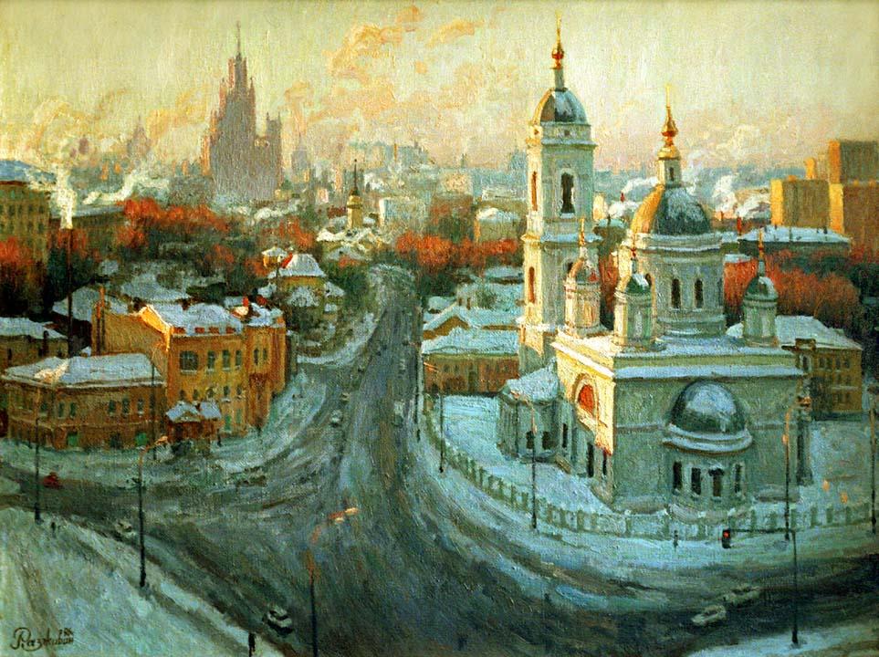 Игорь Разживин. Москва под снегом