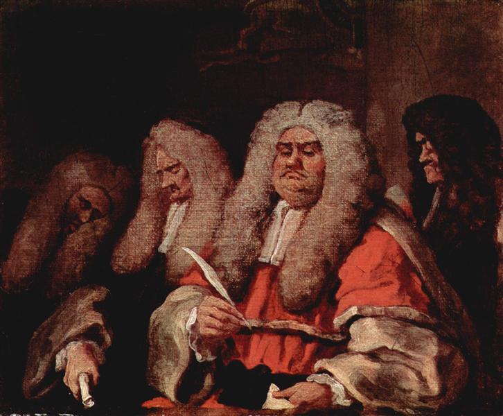 Уильям Хогарт. Суд
