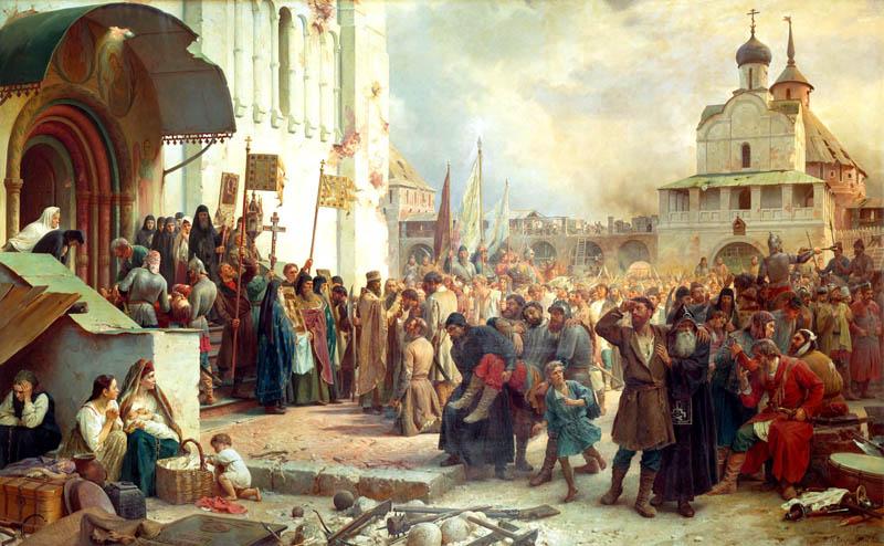 В.П. Верещагин. Защитники Троице-Сергиевой лавры