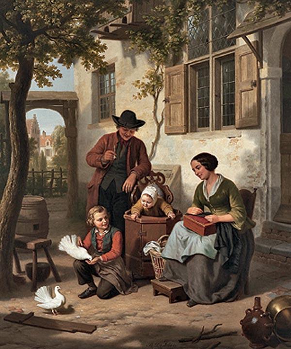 Базиль де Лозе Счастливое семейство