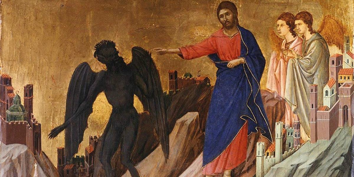 Искушение Христа на горе. Фрагмент «Маэсты» Дуччо ди Буонинсенья.