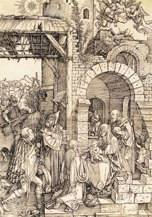 Альбрехт Дюрер (1471-1528) Поклонение волхвов, 1503 Бумага, ксилография 29,8х20,8
