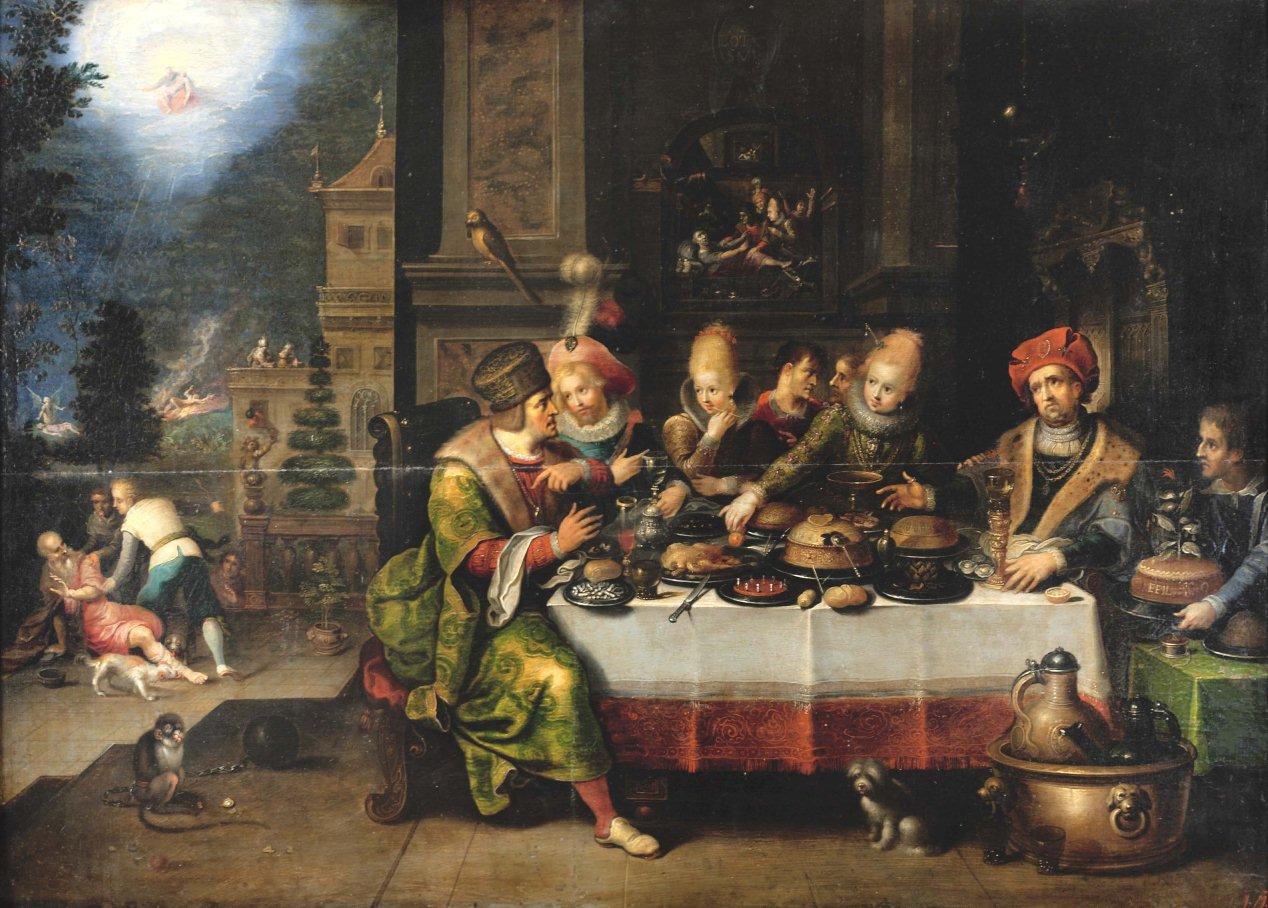 Франс II Франкен 1581-1642 Притча о богаче и бедном Лазаре 1620-е годы