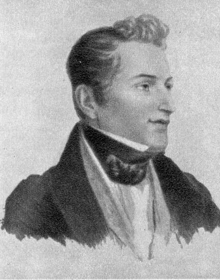 Алексей Венецианов портрет Гоголя Н.В. (автолитография)
