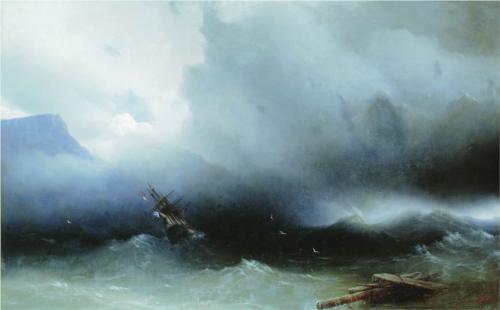 Иван Айвазовский Ураган на море