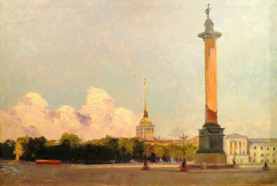 Илья Кац Дворцовая площадь 1953