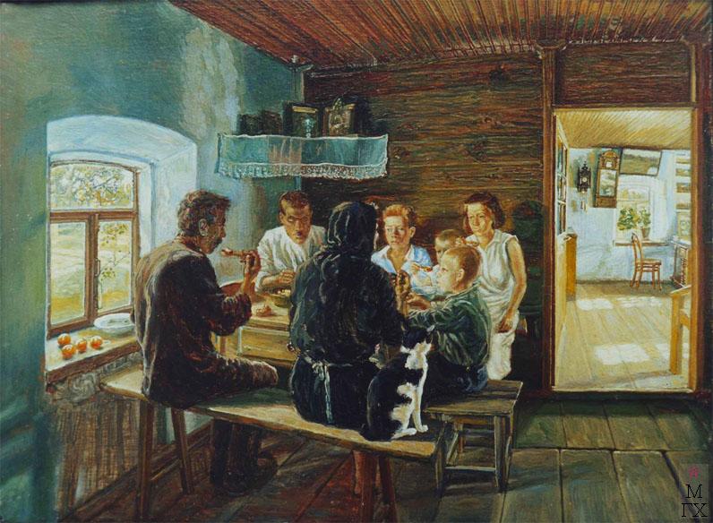 Михаил Климентов Семья за обедом