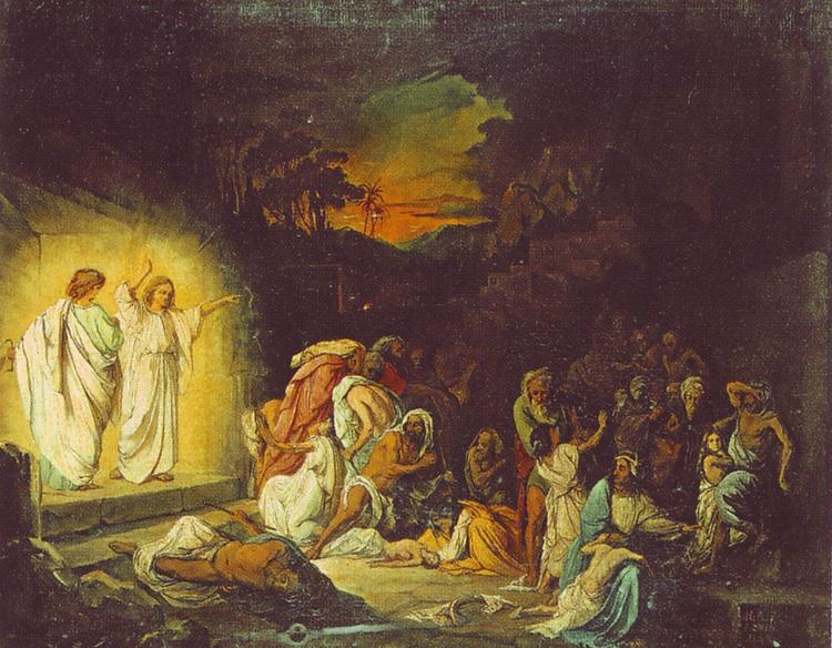Николай Ломтев Ангелы возвещают небесную кару Содому и Гоморре