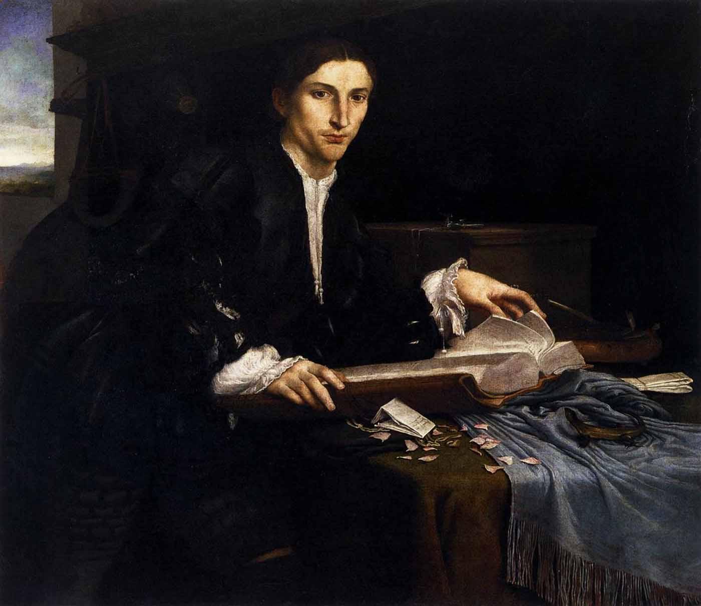 Лоренцо Лотто Портрет молодого ученого