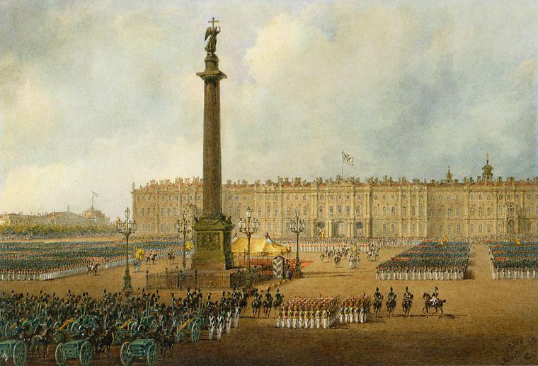 Военный парад на Дворцовой площади