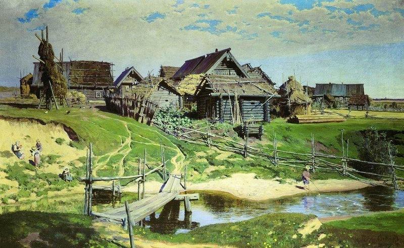 Василий Поленов Русская деревня