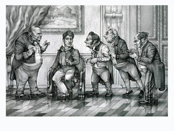Савицкий К.А. Иллюстрация к Ревизору Гоголя