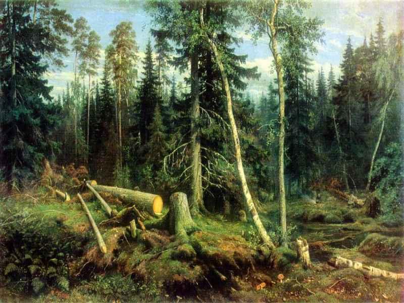 Иван Шишкин Рубка леса
