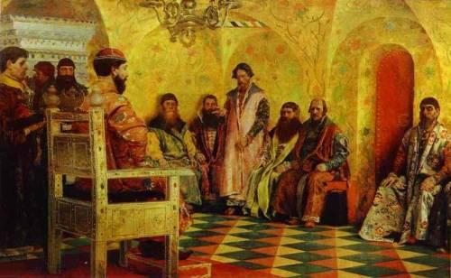 Андрей Рябушкин Сидение царя Михаила Федоровича с боярами в его государевой комнате
