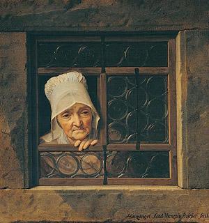 Йозеф Гауцингер Старушка в окне