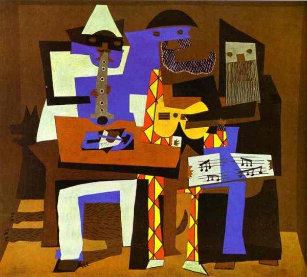 Художник Пабло Пикассо Название картины Три музыканта