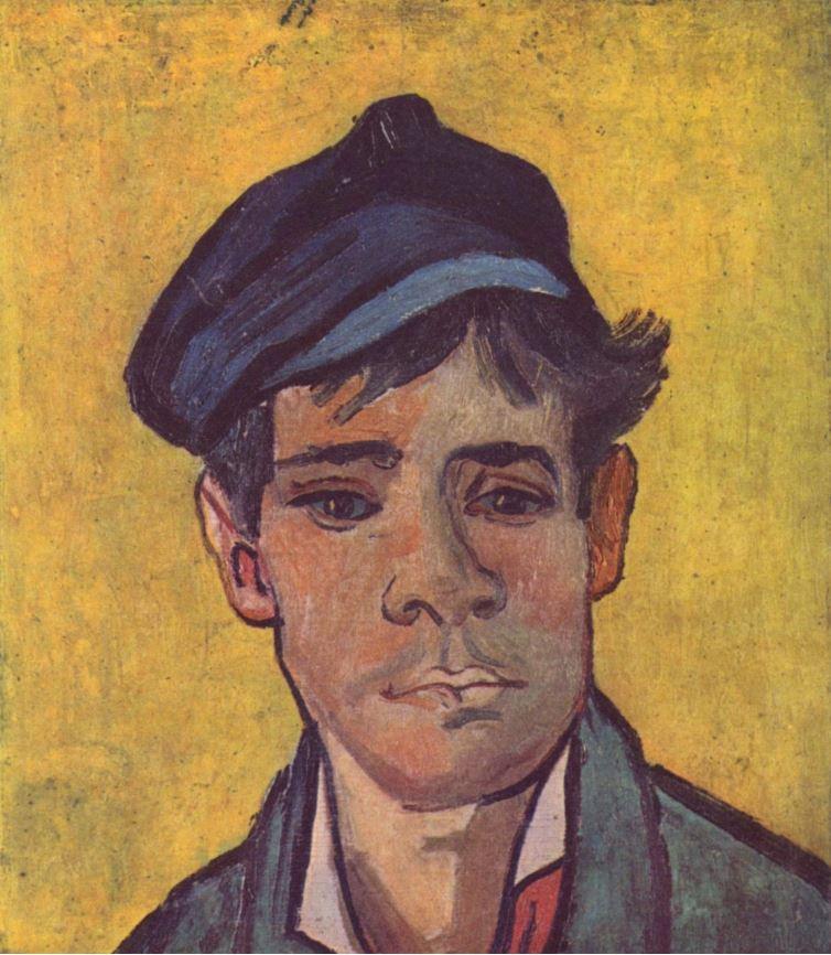 Винсент Ван Гог - Молодой человек в шапке, 1888