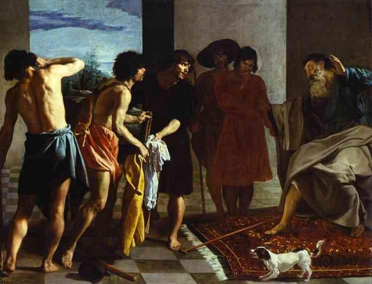 Диего Веласкес Кровавые одежды Иосифа принесли к Иакову