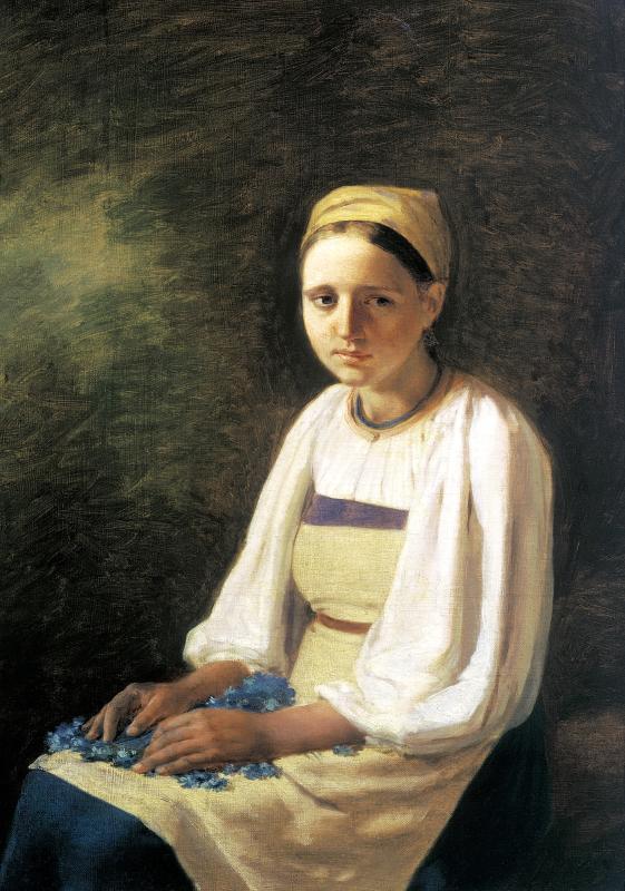 Алексей Венецианов Крестьянка с васильками