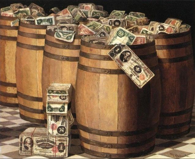 Victor Dubreuil barrels of money