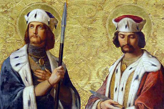 И.К.Дорнер Свв. великомученики Борис и Глеб