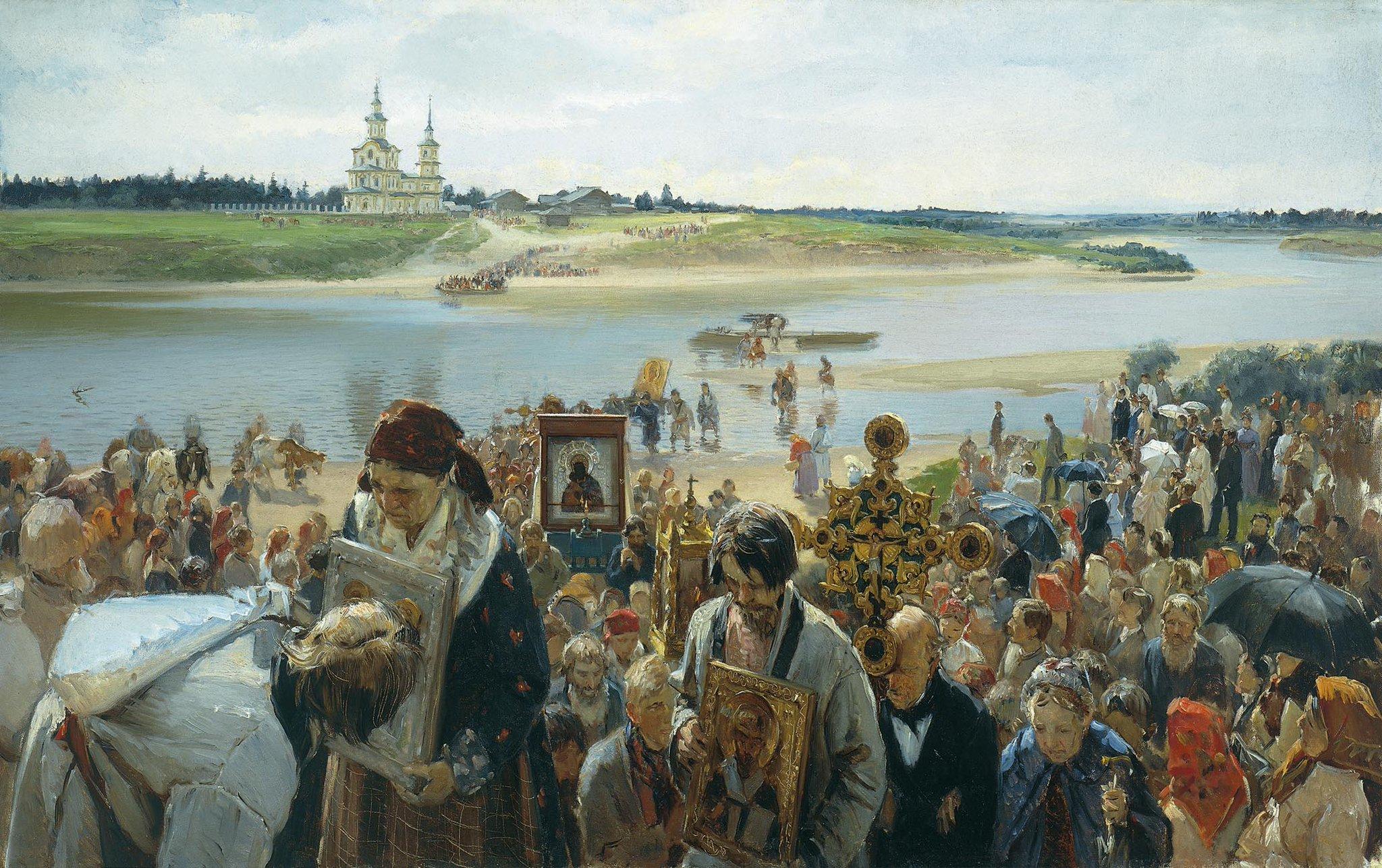Илларион Прянишников. Крестный ход, 1893
