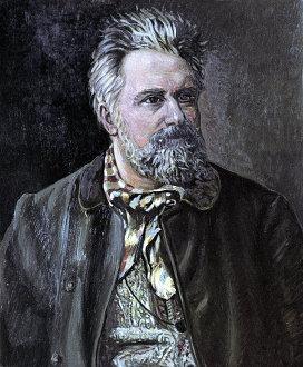 Портрет Н.С. Лескова работы И.А. Банистера