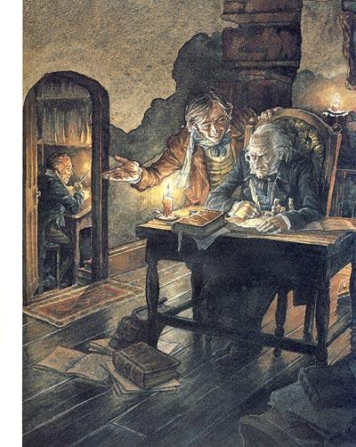П. Дж. Линч Иллюстрация к Рождественской песне в прозе Ч.Диккенса
