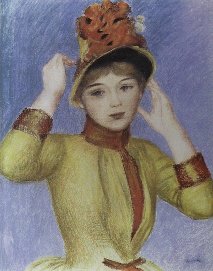 Ренуар Женщина в желтом корсаже