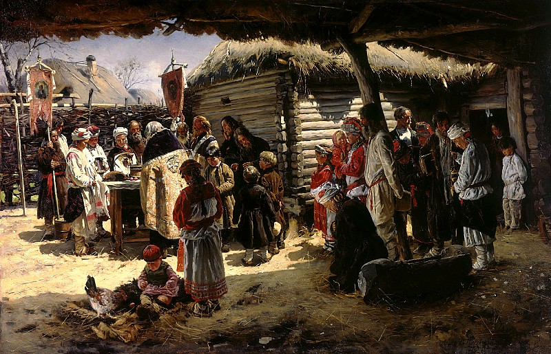 Владимир Маковский. Молебен на Пасху