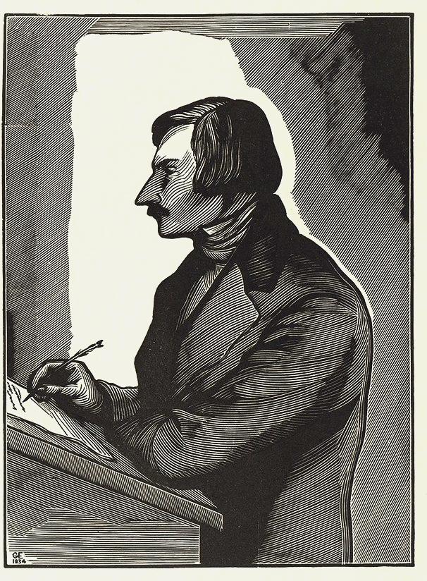 Георгий Ечеистов. Портрет Н.В.Гоголя. 1934 г.
