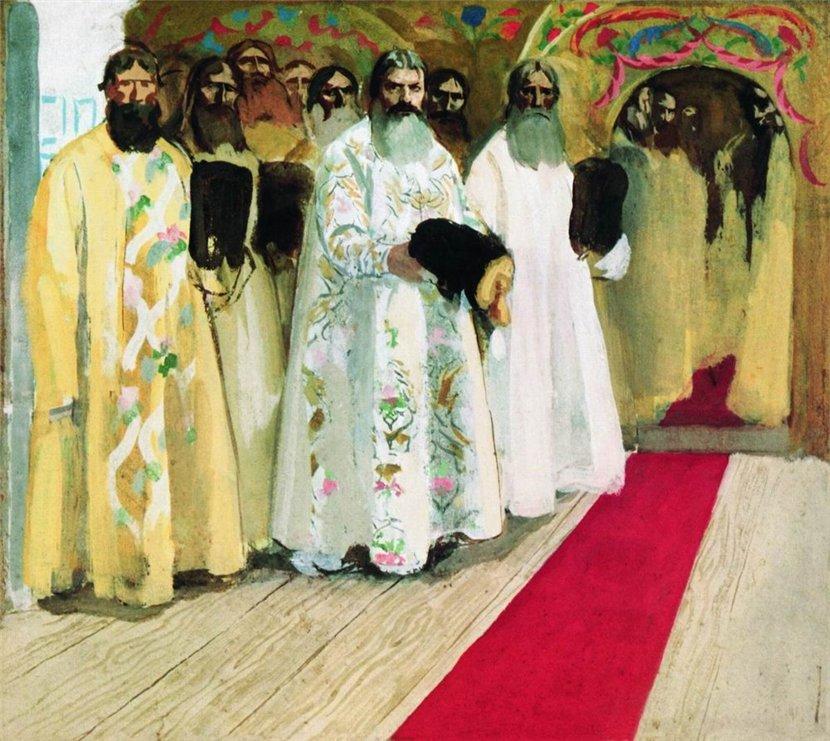 Андрей Рябушкин Ожидают выхода царя