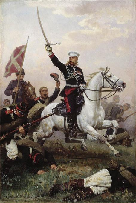 Николай Дмитриев-Оренбургский Генерал М.Д. Скобелев на коне