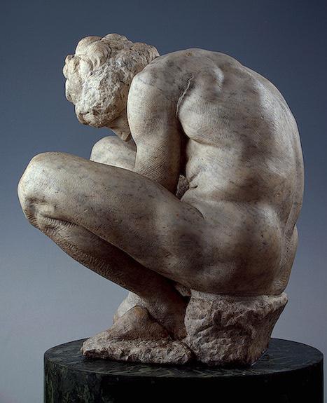Микеланджело Скорчившийся мальчик