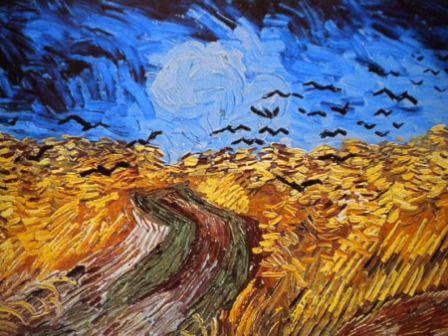 Ван Гог Стая ворон над хлебным полем