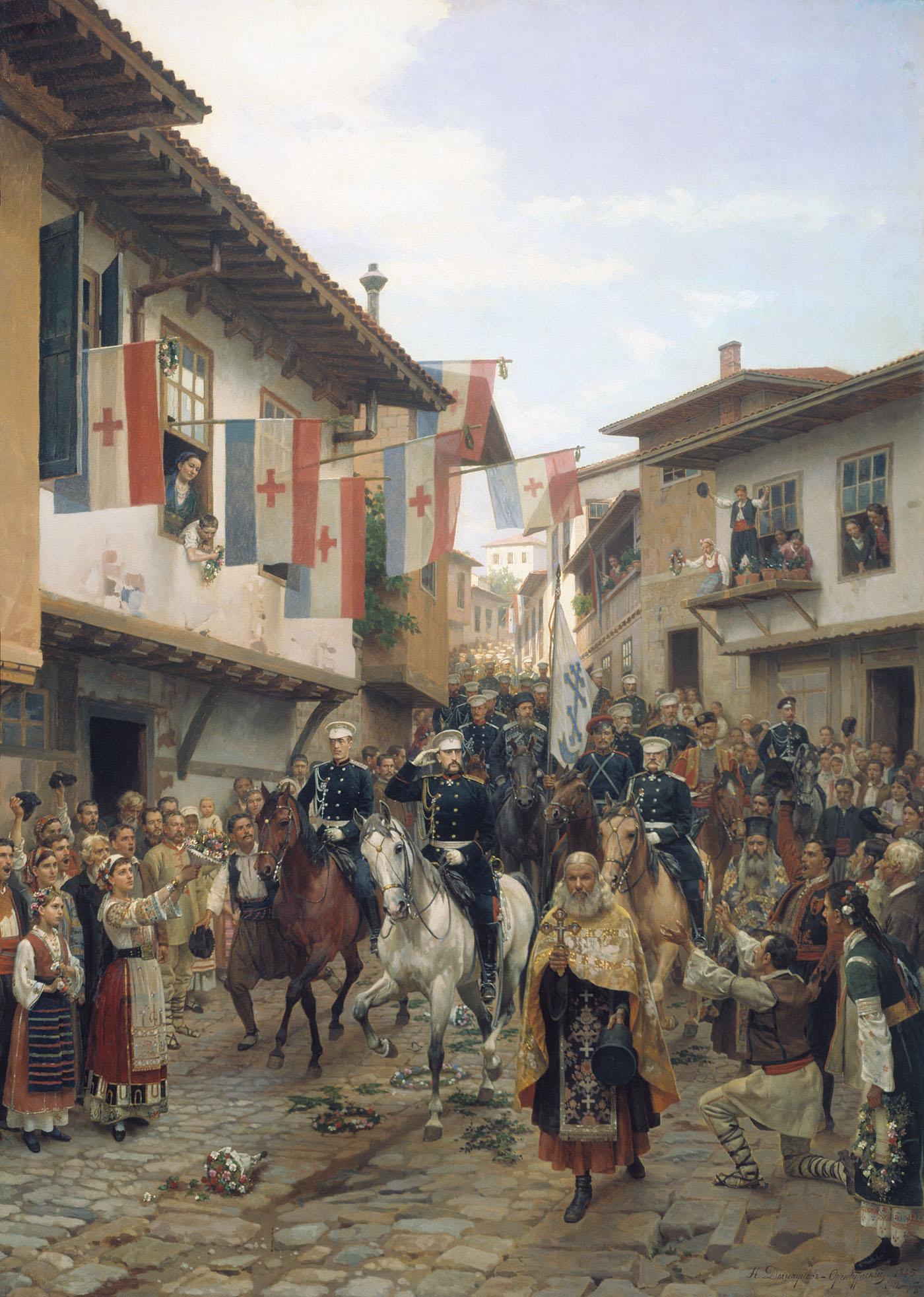 Въезд великого князя Николая Николаевича в Тырново 30 июня 1877 года