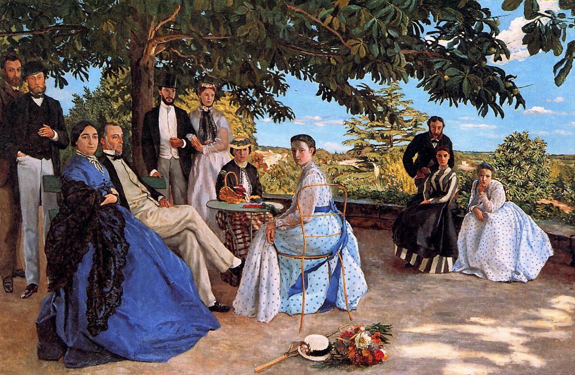 Фредерик Базиль В кругу семьи