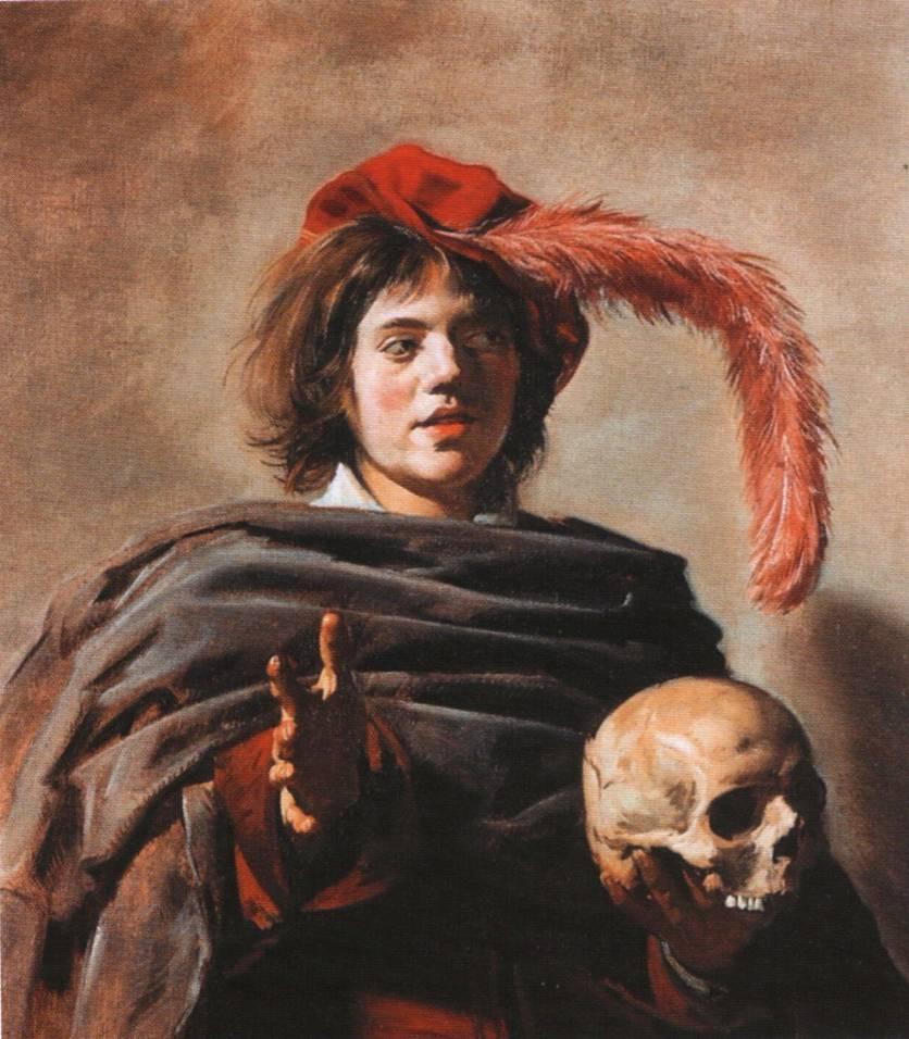 Франс Хальс Молодой человек с черепом