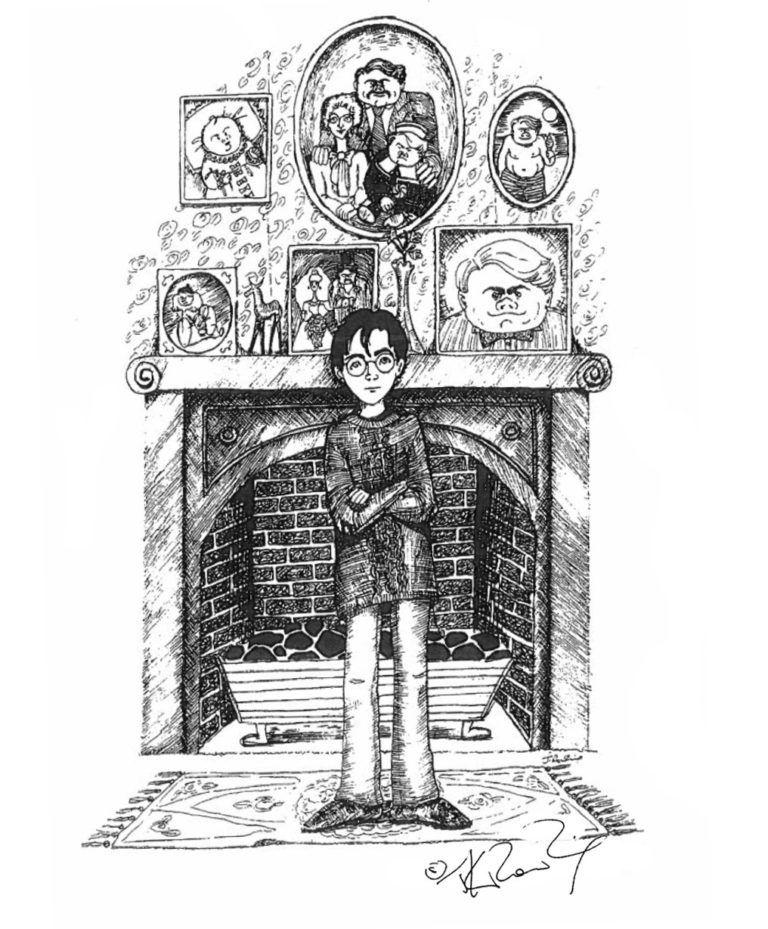 Гарри Поттер (рисунок автора - Джоан Роулинг), 1990-е